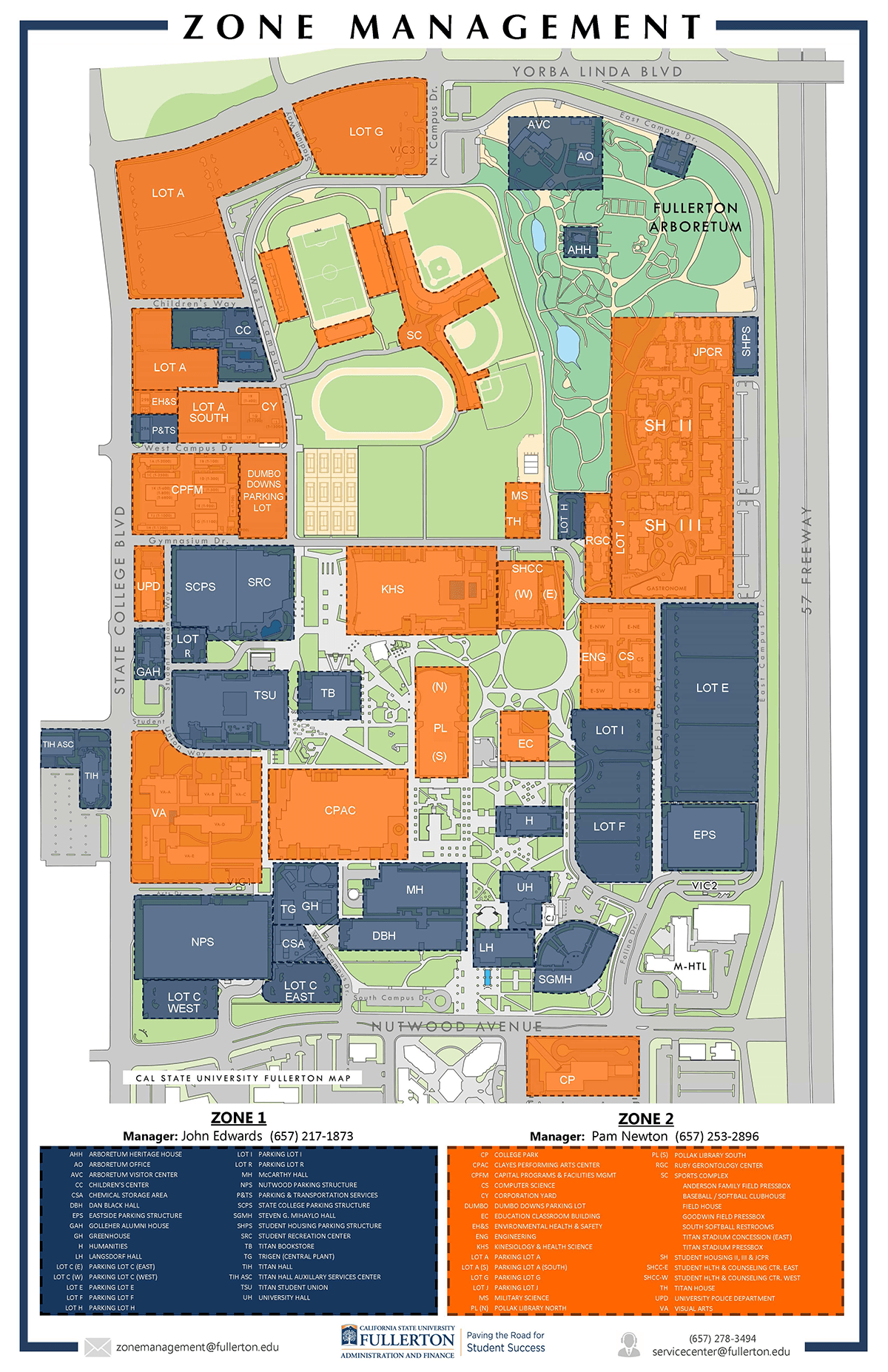Zone Management Capital Programs And Facilities Management Csuf